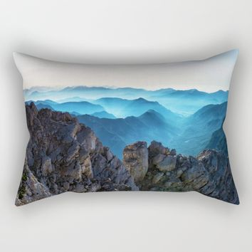 Mountains Breathe Too Rectangular Pillow by Mixed Imagery