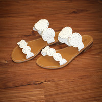Walking Into Style Sandals - White
