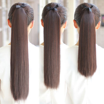 Seven little wig long and straight hair , ponytail Ms strap vivid fake ponytail in long and short ponytail straight hair wig piece