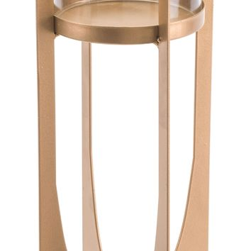 Equis Gold Candle Holder Large