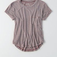 AEO Soft & Sexy Crew Pocket T-Shirt, Burgundy