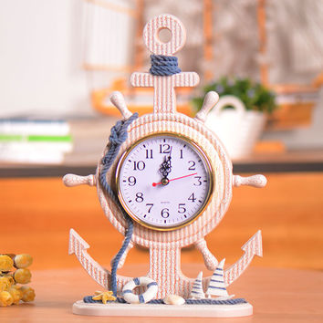Mediterranean Sea Home Decor Style Accessory Gifts Clock [6282980998]