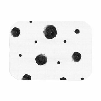 "Chelsea Victoria ""Black Dots"" Pattern Abstract Place Mat"