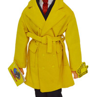 Vintage 90s Dick Tracy Movie Action Figure Doll with Stand