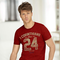 1 Corinthians 9:24 Christian T-Shirt - Lift Your Cross