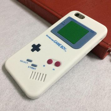QIUWHEAT Brand For Nintendo Game Boy Silicone Rubber Protective Case Cover for iPhone 8 4 4s 5 5s SE 6s 6 Plus 6s Plus 7 7Plus