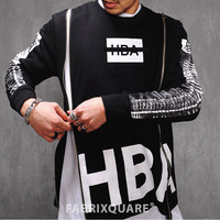 H Bone Printed Double Zip Tee