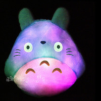 New Totoro Led Luminous Plush Pillow Lovely Totoro Toy Wedding Gift Christmas Gift Birthday Gift
