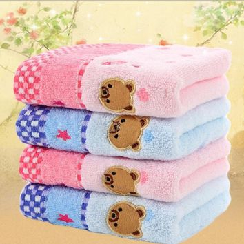 Winnie the untwisted cotton towel 25 * 50cm cotton jacquard pattern cartoon children small towel    HAO