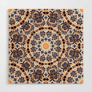 Abstract Mandala Pattern Wood Wall Art by tmarchev