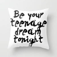Teenage Dream Throw Pillow by Sjaefashion | Society6