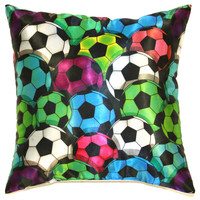 Soccer Balls Pillow