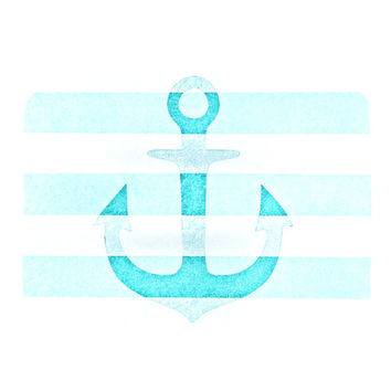 "Monika Strigel ""Stone Vintage Aqua Anchor""  Place Mat"