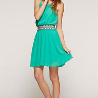 Criss Cross Jade Dress