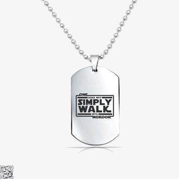 One Does Not Simply Walk, Lord Of The Rings Tag Necklace