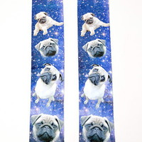 Pug Graphic Crew Socks