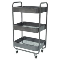Room Essentials metal utility cart with metal mesh tray, flat grey