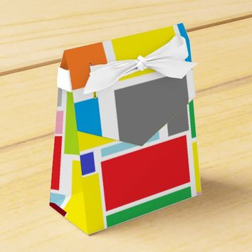 Happy Colorful Blocks Paper Gift Favor Box