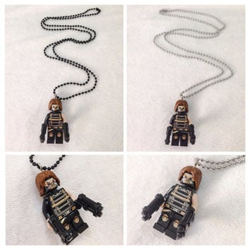 Lego BOGO Buy 1 Get 1 Promo! Lego® Captain America Winter Soldier Necklace, The Avengers, FREE Lego® Minifigure Necklace Party Favors Gift
