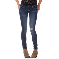 Lola Destroyed Dark Wash Jegging - Aeropostale