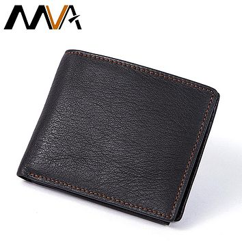 Men Wallets With Zipper Coin Pocket Casual Coin Purse Genuine Leather Men Wallets Credit Card Holders Organizer Wallet