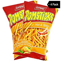 Lorenz Hot & Spicy Pomsticks (3.5 oz x 4)