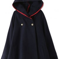 Essential Fashion Hooded Woolen Cape - OASAP.com