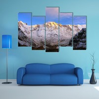 Morning View Of Mount Annapurna Multi Panel Canvas Wall Art