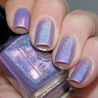 Nail polish  Head over heels light purple linear by EmilydeMolly