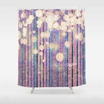 Glitter Pink Grunge Splatter Shower Curtain by Webgrrl | Society6