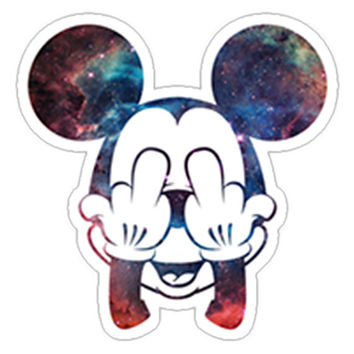 Galaxy Micky Mouse Decal
