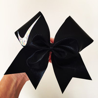 Big Holographic Swoosh black spandex cheer bow Nike