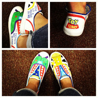 custom shoes by OnceUponATimeShoes on Etsy