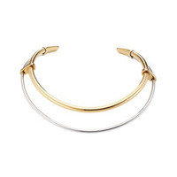 Mixed Metal Gold-Plated Choker Necklace - Alexander McQueen | WOMEN | US STYLEBOP.COM