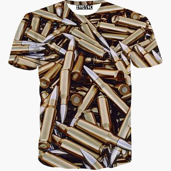 Bullet Printed 3d T-shirt - All Over Print