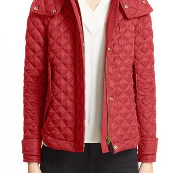Burberry Brit 'Leightonbury' Quilted Hooded Jacket | Nordstrom