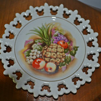 Two Fruit Motif Plates, Collector's Plates, Saji, Schumann Arzberg