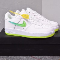 """Nike Air Force 1"" Women Casual Fashion Crystal Jelly Gradient Hook Low Help Plate Shoes Sneakers"
