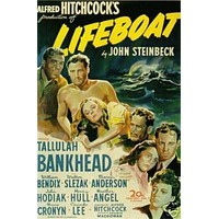 Lifeboat Movie Poster Alfred Hitchcock Rare Hot Vintage