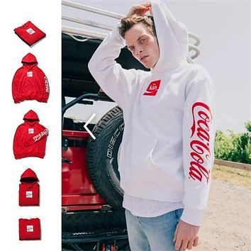 Kith X Coca Cola Fashion Printing Logo Hoodie Sweater M Xxl | Best Deal Online