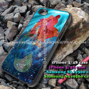 The Little Mermaid Ariel galaxy iphone case, iphone 4/4S, iphone 5/5S, iphone 5c, samsung s3 i9300, samsung s4 i9500, design accesories