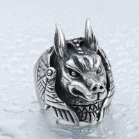 BEIER 316L Stainless Steel League-legend Game Nasus Role Ring For Men Top Quality Jewerly BR8-391