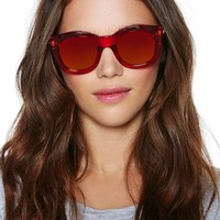 NG X Le Specs Runaways Shades - Red
