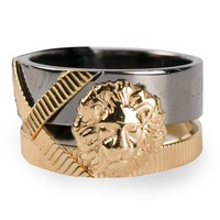 Anthony Vaccarello X Versus Versace lion ring