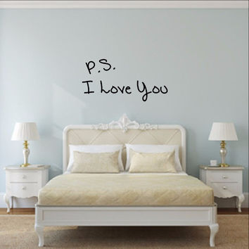 P S I Love You Vinyl Wall Decal 22498