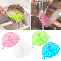 2016 Hot Sale 1PC Durable Clean Leaf Shape Rice Strainer Sieve Beans Peas Cleaning Gadget Strainer for Kitchen Clips Tools