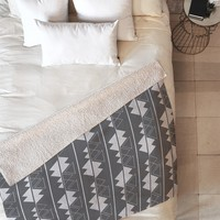 CraftBelly Alpine Twilight Fleece Throw Blanket