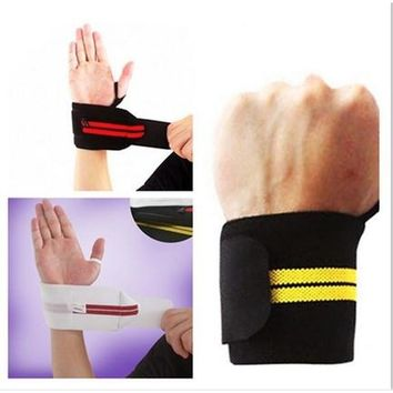 1 Pc Weight Lifting Sports Wristband Gym Wrist Thumb Support Straps Wraps Bandage Fitness Training Safety Hand Bands
