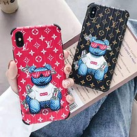LV Louis Vuitton Supreme Fashion iPhone Phone Cover Case For iphone 6 6s 6plus 6s-plus 7 7plus iPhone X XR XS XS MAX