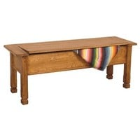 Sunny Designs Sedona Side Bench with Storage In Rustic Oak